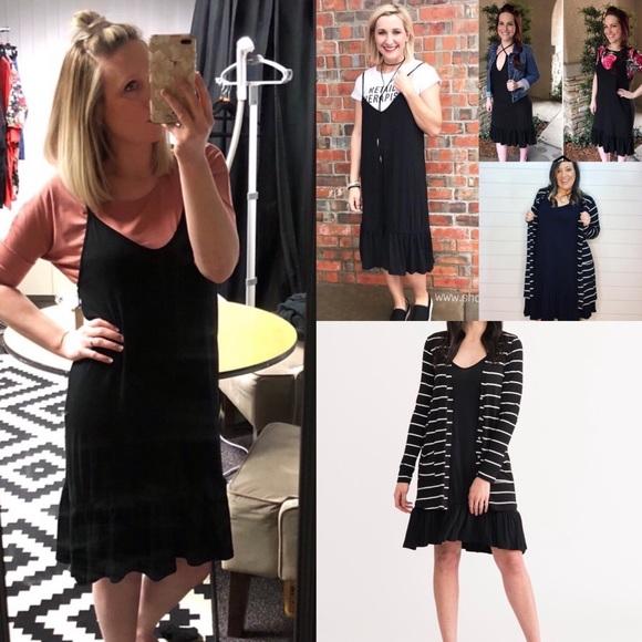 Agnes & Dora Dresses & Skirts - 🆕 Flirty Black Slip Dress, Various Sizes